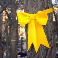 La iniciativa de la cinta amarilla prende en millones de personas.